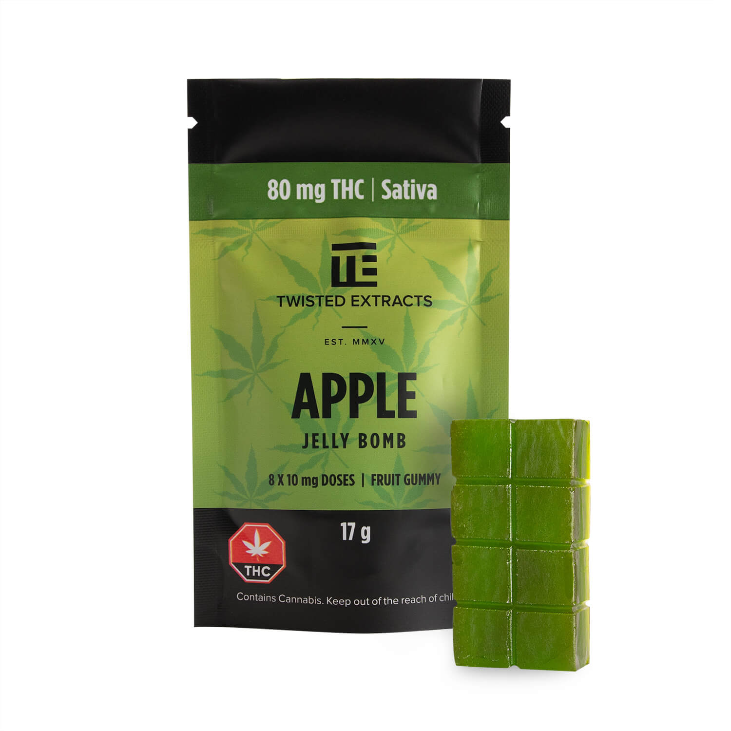 Apple Sativa Jelly Bomb   My Pure Canna   Weed Edibles