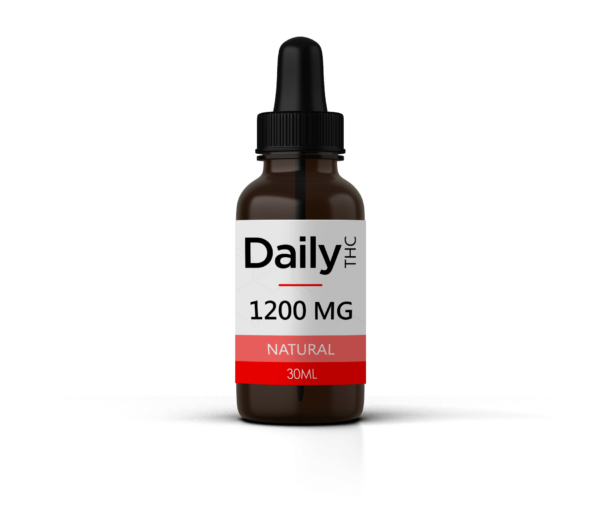 Daily THC - THC Tincture - 1200 MG Natural