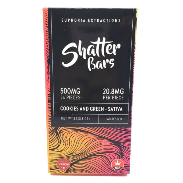 Euphoria Extractions Shatter Bar Sativa C&G