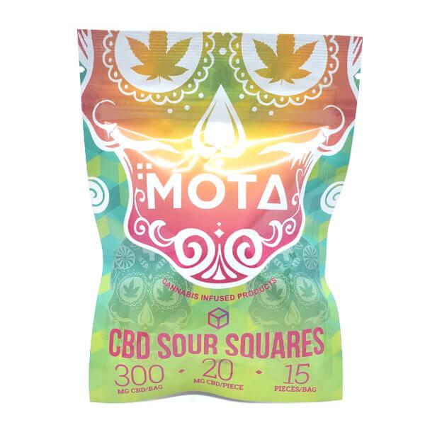 Mota 300mg CBD Sour Squares