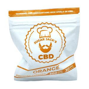 Sugar Jacks - 300mg CBD Gummies (Orange)