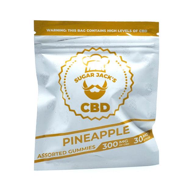 Sugar Jacks - 300mg CBD Gummies (Pineapple)