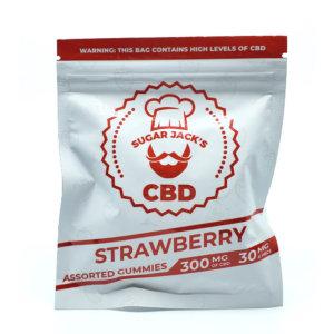 Sugar Jacks - 300mg CBD Gummies (Strawberry)