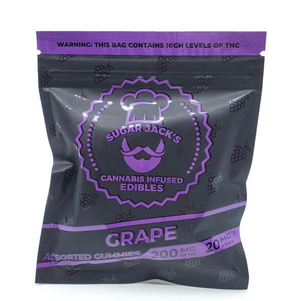 Sugar Jacks 200mg Gummies - (Grape)