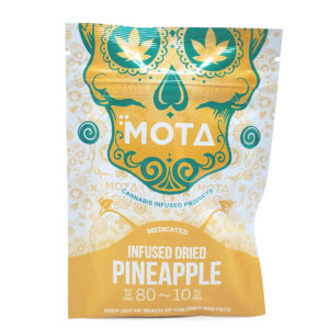 Mota infused dried pineapple