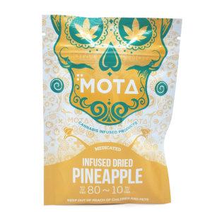 Mota infused dried pineapple