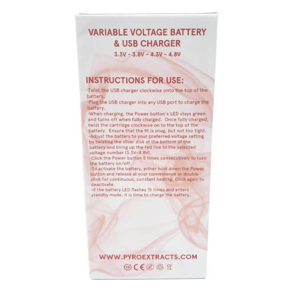 Pyro Ceramic Vape Battery Back