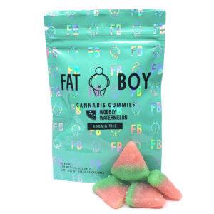 FatBoy - Wobbly Watermelon Gummies (300mg THC)