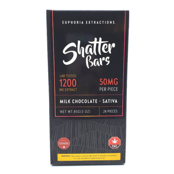 Sativa Milk Chocolate Shatter Bar (1200mg)