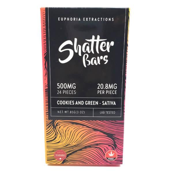 Sativa Cookies & Green Shatter Bar (250mg)