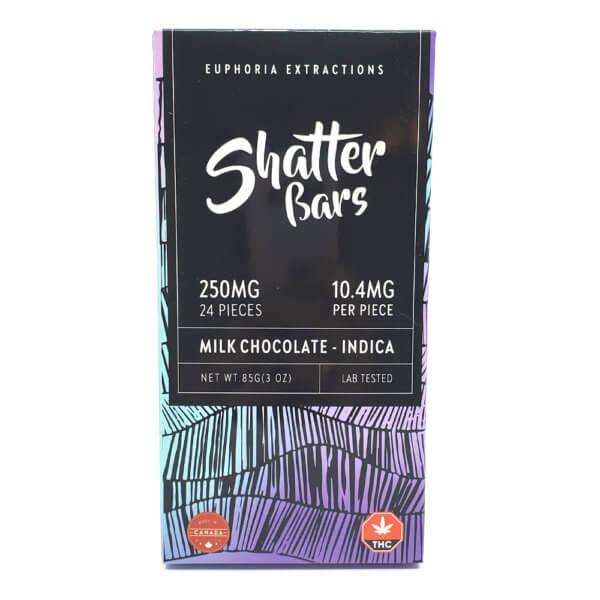 Indica Milk Chocolate Shatter Bar (250mg)