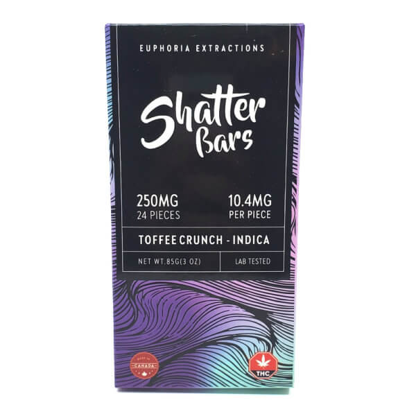 Indica Toffee Crunch Shatter Bar (250mg)
